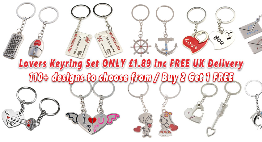 Couple Keyrings From ONLY 1.89 Including FREE Delivery