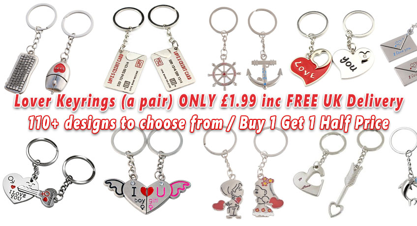 Couple Keyrings ONLY 1.99 Including FREE Delivery