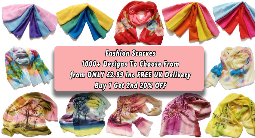 Fashion Scarves From ONLY 2.99 Including FREE Delivery