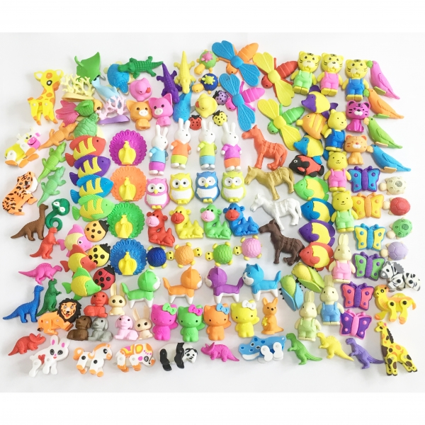 Cute Animals Fish Birds Dogs Sealife Puzzle Erasers Novelty Fun Kids Rubbers Party Gift Bag Fillers