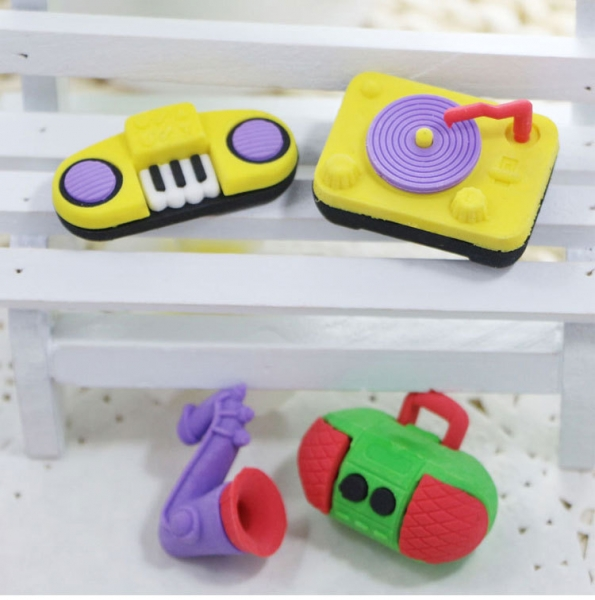 Novelty Musical Instrument Rubber Erasers