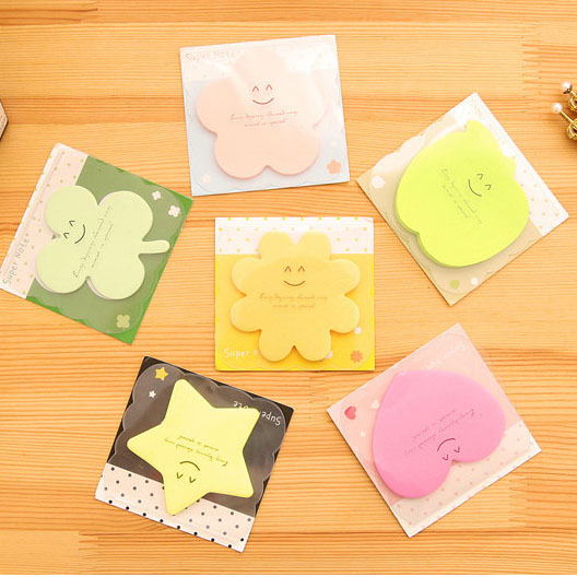 Lovely Shaped Cute Sticky Notes Novelty Sticky Note Pad Bookmark Memo Index Tab Page Markers
