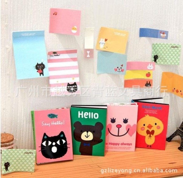 180 Sheets Cat Bear Duck Animals Cute Novelty Sticky Notes Pad Bookmark Memo Index Tab Page Markers