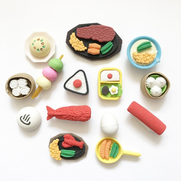 Cute Japanese Food Puzzle Erasers Novelty Fun Kids Rubbers Party Gift Bag Fillers