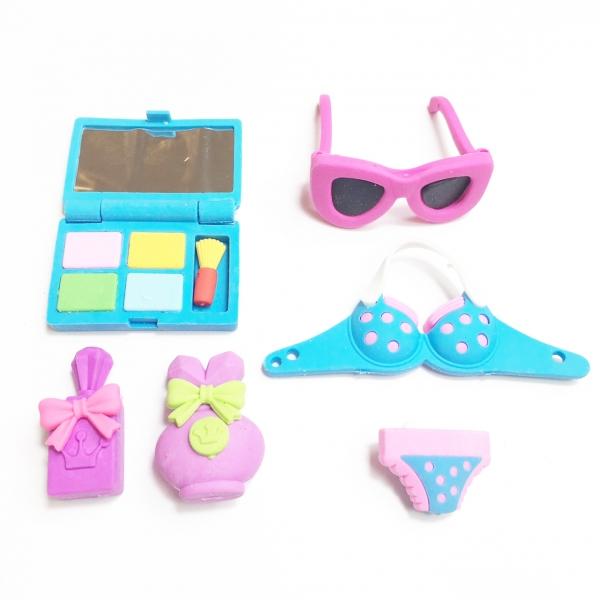 Girls Summer Fashion Rubber Erasers