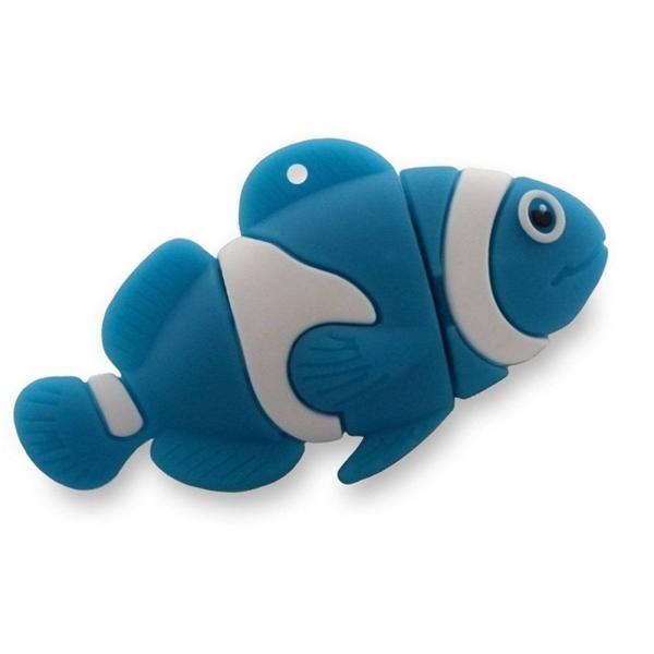 Nemo Like Blue Clown Fish Memory Stick Novelty USB Flash Drive