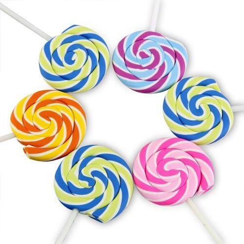 Swirls Lollipop Candy Cute Erasers Novelty Fun Kids Rubbers Party Gift Bag Fillers