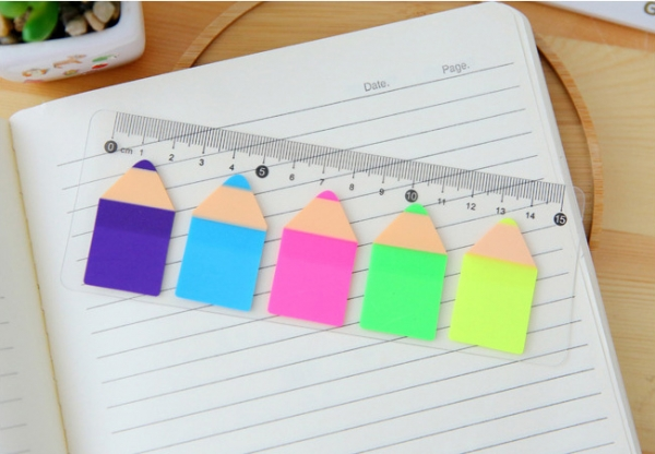 cute pencil shape sticky notes with ruler sticky note pad party gift
