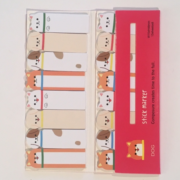 Adorable Dogs Cats 8 In 1 Mini Sticky Notes