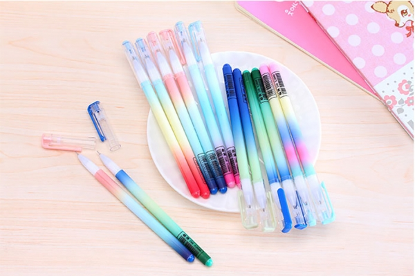 Colourful Jelly Color Novelty Ballpoint Gel Pens Cute Funky School Supply Party Gift Bag Fillers