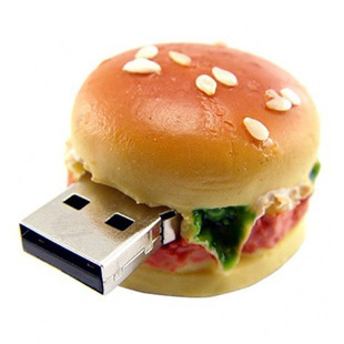 Large Beef Burger Hamburger Fast Food Shape Novelty USB Flash Drive Memory Stick Gift Present
