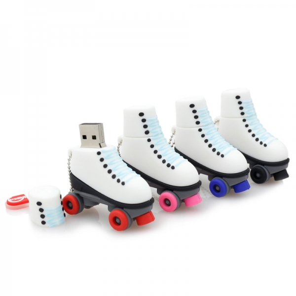 Red wheel Roller Skates Shoe Novelty 16GB USB Memory Stick Flash Drive Gift Present