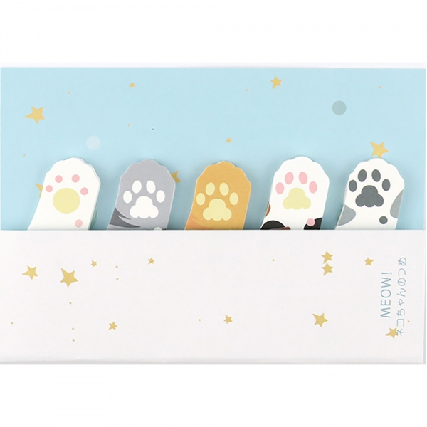 Kitten Cat Paws Cute Mini Sticky Notes Novelty Sticky Note Pad Bookmark Memo Index Tab Page Markers