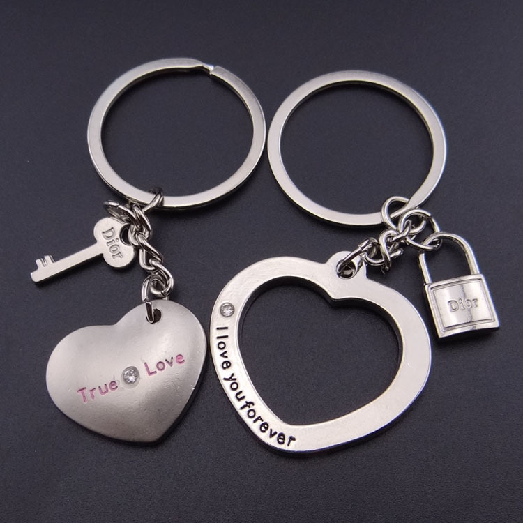 bc054f26f5 Love You Forever Love Hearts Couple Keyrings Lovers Puzzle Keyring Set  Silver Me