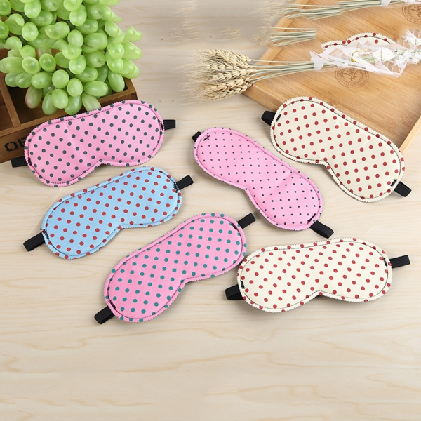 Red Dots Patterned Sleep Masks Lightweight Eyeshade Comfortable Travel Eye Masks