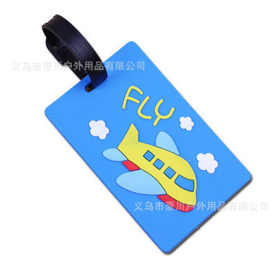 Yellow Airplane Blue Fashion Luggage Tags Cute Holiday Suitcase Labels Travel Bag Identity ID
