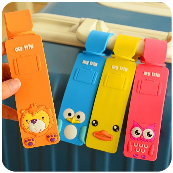 Cute Animals Luggage Tags Kids Holiday Suitcase Labels Boys Girls Travel Bag Identity For Children