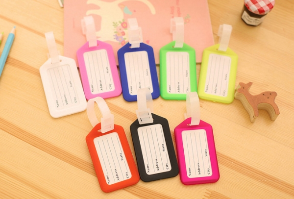 Colourful Luggage Tags Cute Holiday Suitcase Labels Travel Bag Identity ID Name Address Tel