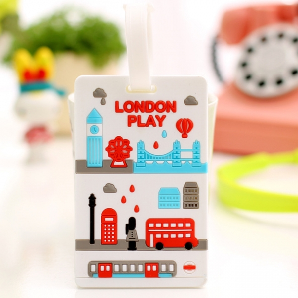 I Love London Fashion Luggage Tags Cute Holiday Suitcase Labels Travel Bag Identity ID