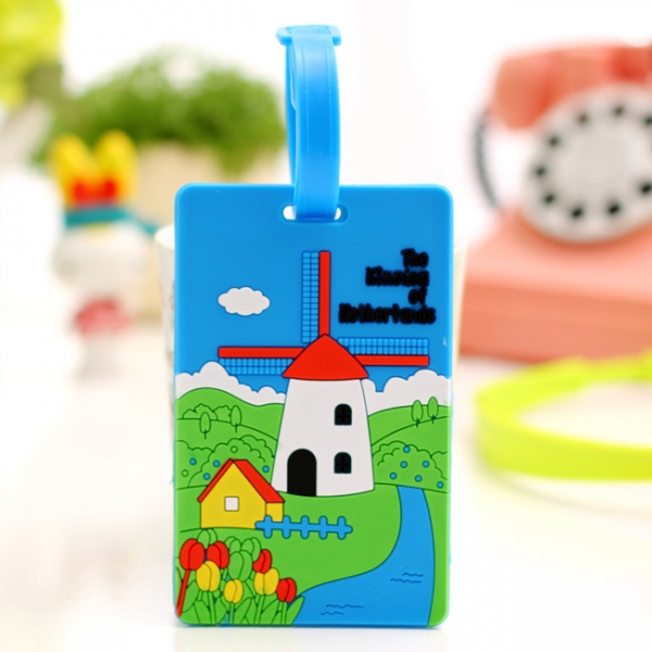 Holiday In Netherlands Holland Fashion Luggage Tags Cute Holiday Suitcase Labels Travel Bag Identity