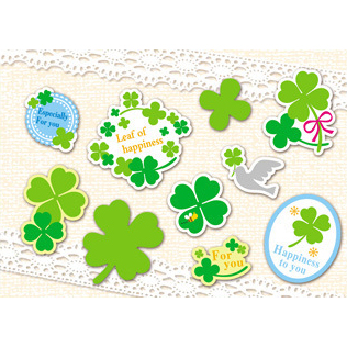 Three Leaves Clover Plastic Stickers Mobile Phone Stickers