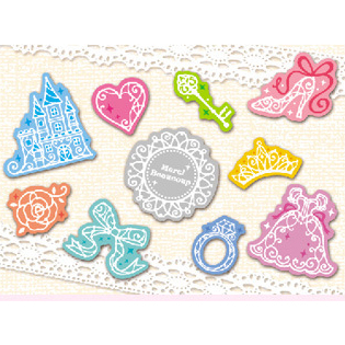 Princess Plastic Stickers Mobile Phone Stickers