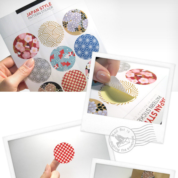 Traditional Japanese Printing Flower Stickers