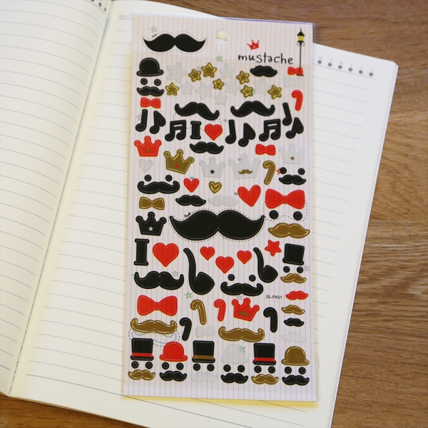 Funny Moustaches Stickers