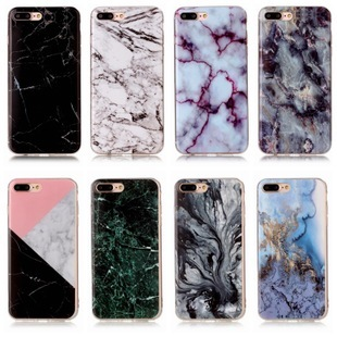 quality design 668f1 6ea72 Glossy Back Granite Marble Effect Phone Case Cover For iPhone 5 5S SE 6 6S  7 Plus