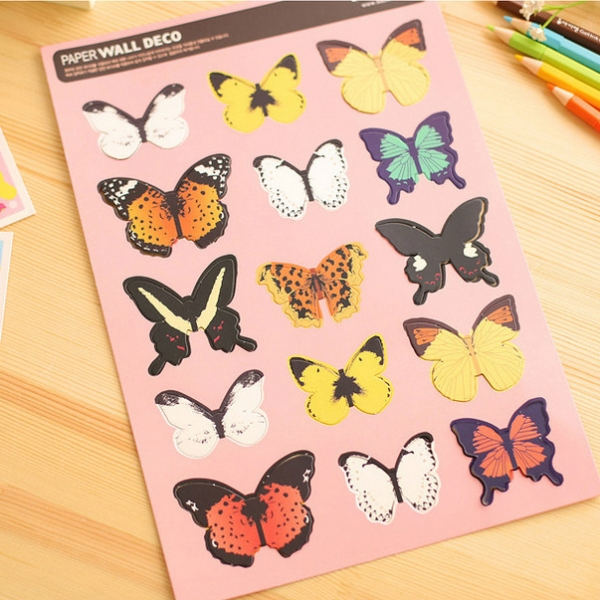 butterfly decorative stickers wall stickers 3d butterfly wall stickers girls wall stickers roommates