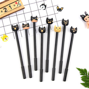 Cute Black Kitten Cats Novelty Ballpoint Gel Pens Party Gift Bag Fillers