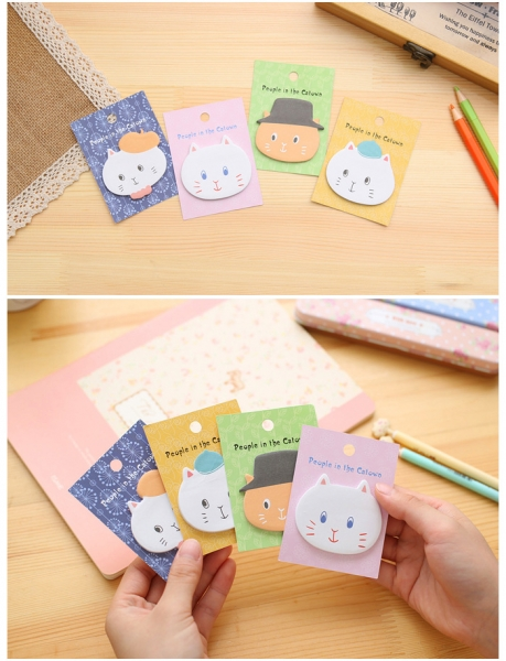 Kitten Cats Cute Sticky Notes Novelty Sticky Note Pad Bookmark Memo Index Tab Page Markers