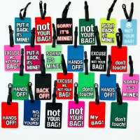 Cool Airport Baggage Claim Warning Message Luggage Tags