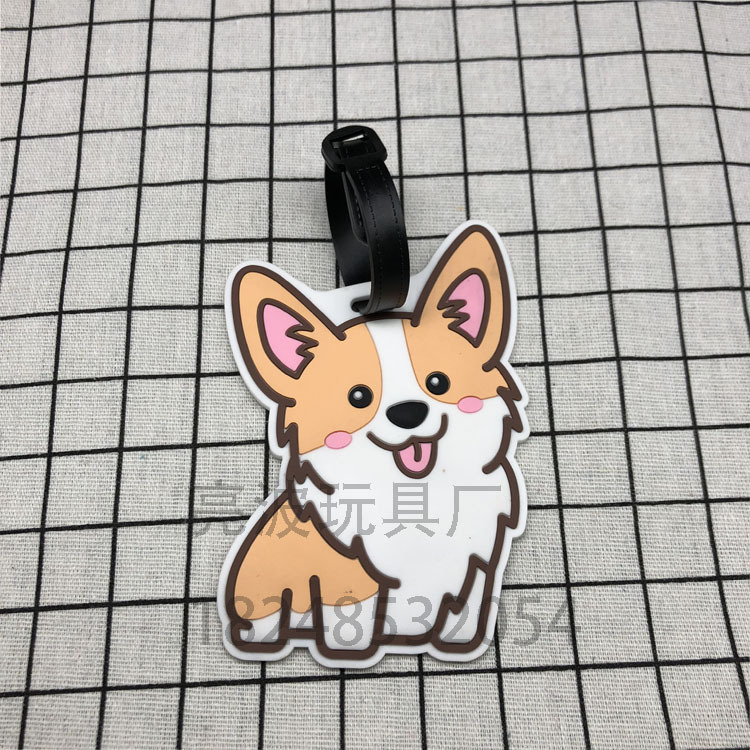 Corgi Luggage Tags Suitcase Labels Bag Travel Accessories Set of 2